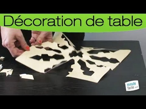 d coration faire un set de table en papier ajour youtube. Black Bedroom Furniture Sets. Home Design Ideas