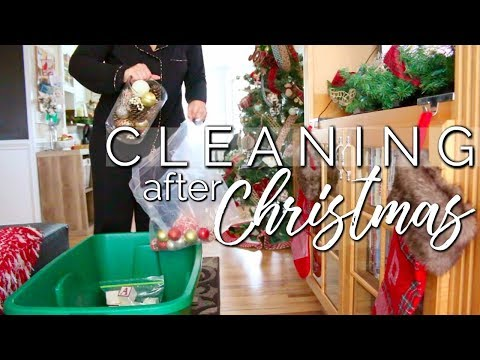 CLEAN WITH ME 2018 | CLEANING AFTER THE HOLIDAYS | UNDECORATE WITH ME! |  Page Danielle