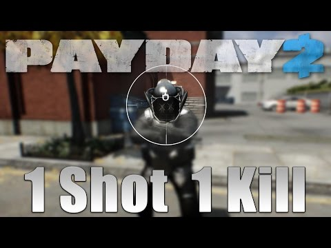 One Shot DOZER killer build! (Payday 2 One Down build)