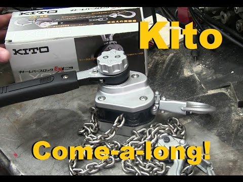BOLTR: Fit's in your glovebox! Kito Baby Sized Chain Hoist.
