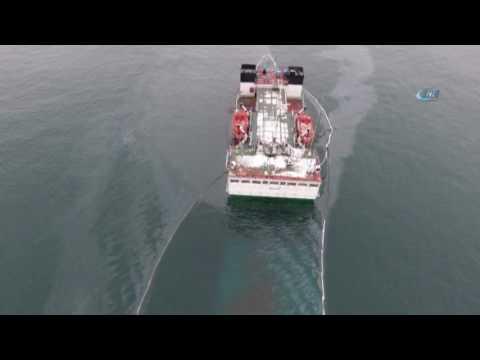 Zeytinburnu Açıklarında Batan Gemi Havadan Görüntülendi