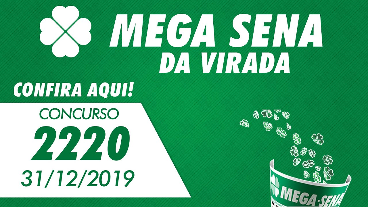 Resultado Da Mega Sena Da Virada 2220 Mega Sena Da Virada 31 12 2019 Youtube