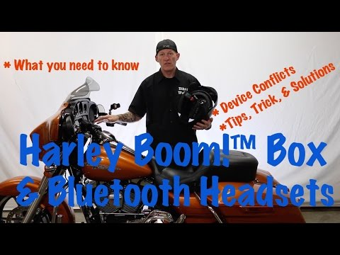 Harley Davidson Boom Box & Wireless Bluetooth Headset Music & Communications