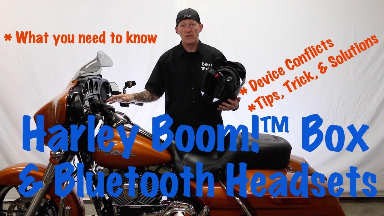 harley davidson boom box & wireless bluetooth headset music