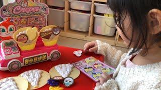 アンパンマン おもちゃ 新発売 くるっと♪はいっどうぞ ドキンちゃんのラブリークレープ屋さん Dokin-chan  Crepe Shop Anpanman Toy