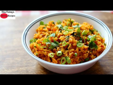 Brown Rice For Weight Loss - Healthy Tomato Rice Recipe For Dinner - Skinny Recipes