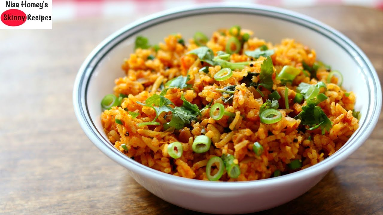 Brown Rice For Weight Loss – Healthy Tomato Rice Recipe For Dinner – Skinny Recipes