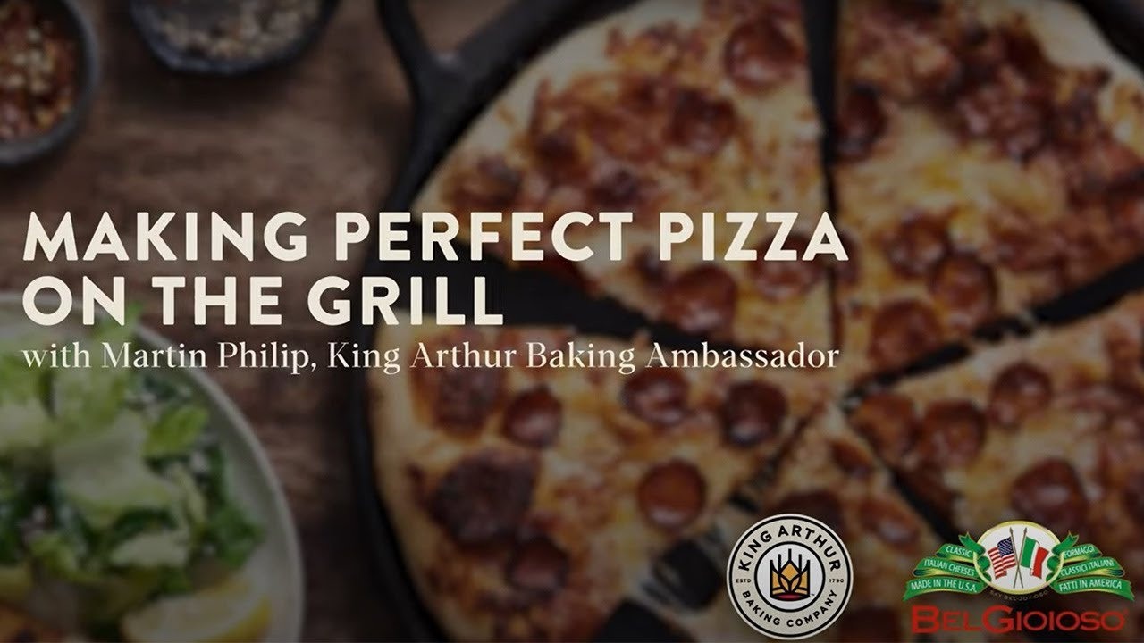 Grilled Pizza with King Arthur '00' Pizza Flour and BelGioioso Cheese