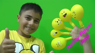 Deddy Finger Family Song with Guka and Emoji Balloons