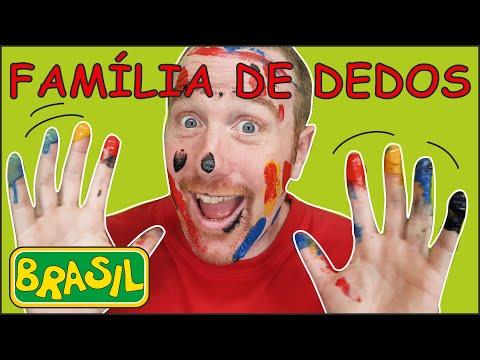 Família de Dedos Animal com Steve and Maggie Brasil | Fluência em Português