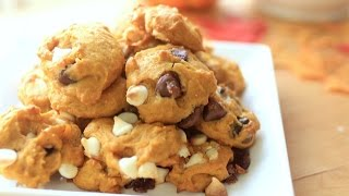 Fluffy Pumpkin Chocolate Cookies