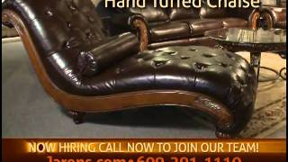Furniture Stores In New Jersey | Harrington Wood Trim Sofa & Love Seat & Chaise
