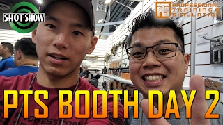 SHOT SHOW PTS BOOTH DAY 2 RECAP ROBO MURRAY AIRSOFT OBSESSED