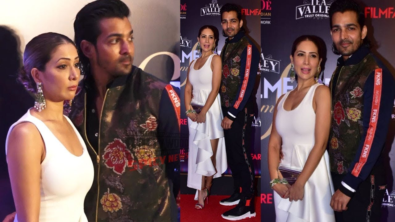 Kim Sharma with Boyfriend Harshvardhan at Film Fare Glamour and Style Awards 2019