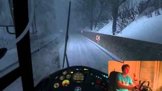 Lets Play Omsi Extreme im Setra 215UL im Schnee durch Dobel