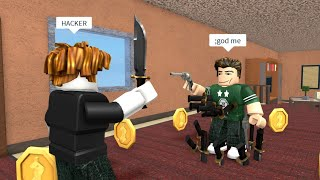 ROBLOX Murder Mystery 2 FUNNY MOMENTS (HACKER)