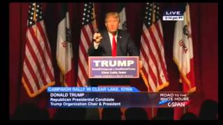 Donald Trump On Ted Cruz Being A Natural Born Citizen: YOU RE NOT . Trump Clear Lake Rally