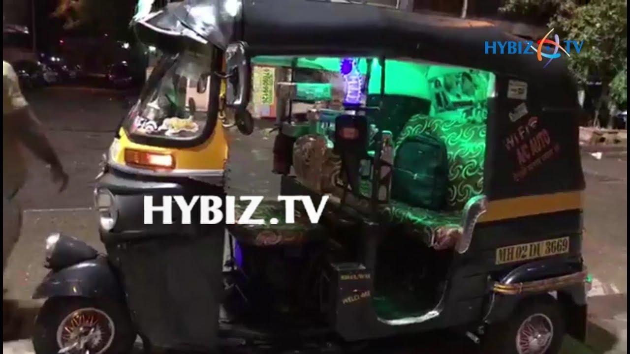 Modified Passenger Auto in Mumbai | wifi | AC | TV | hybiz - YouTube