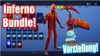 Fortnite Inferno Challenge Pack! Inferno Bundle Skin Presentation (fr) Fortnite Bataille Royale