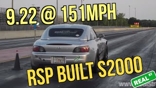 9.22@151 RSP S2K Real Street Performance S2000 F22C AEM Series 2 EMS Precision 6766