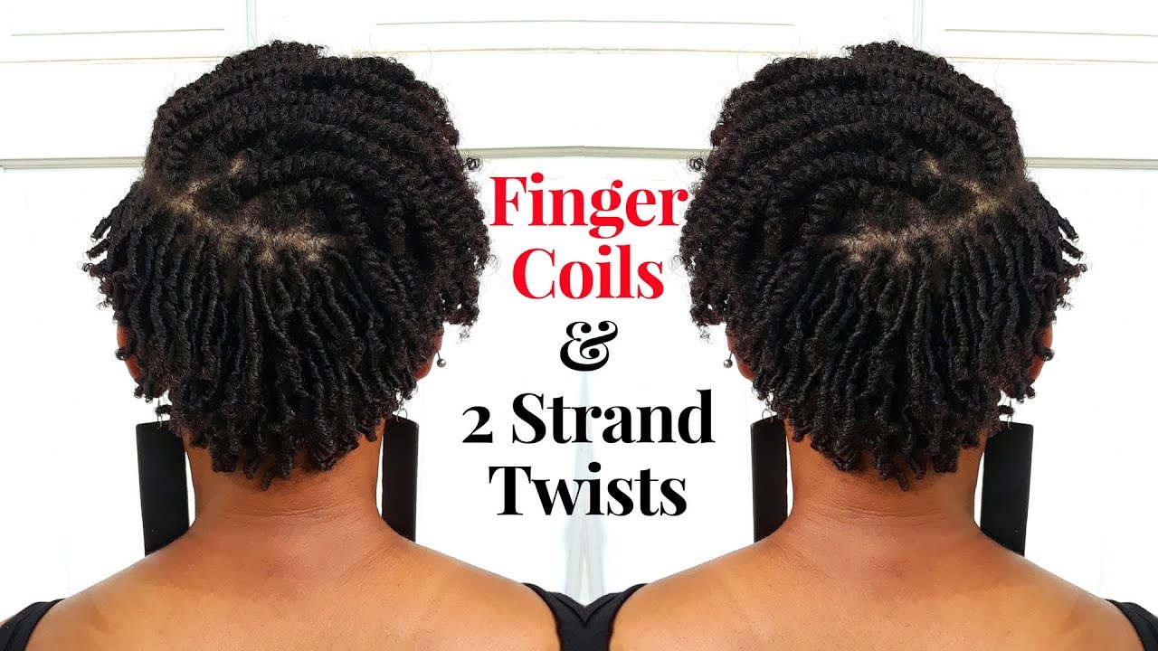 Natural Hair Finger Coils Short Tapered Natural Hair Episode 1 Finger Coils 2