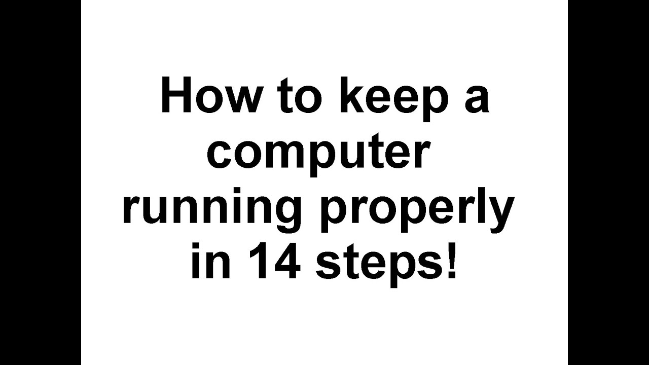 how to properly maintain a computer system Maintain and administer computer networks and related computing environments including computer hardware, systems software, applications software, and all configurations.