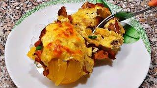 ЕСТЬ КАРТОШКА И ГРИБЫ Нельзя не приготовить такую вкуснятину Фаршированный картофель с грибами