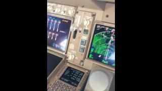 Снижение в Шереметьево Боинг 747-8!