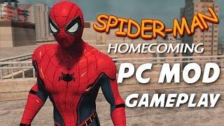 SPIDER-MAN HOMECOMING (Civil War Suit)  PC Mod Gameplay [HD 1080P 60 FPS] (TASM2 Mods)
