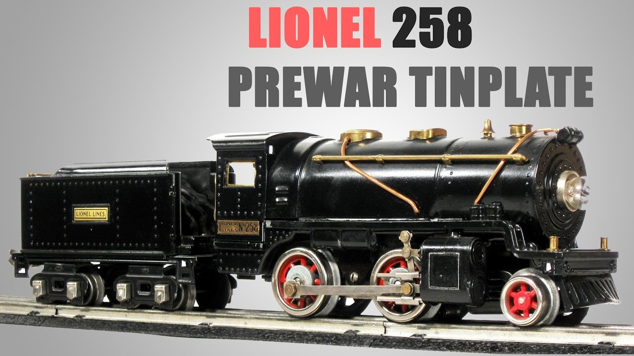 lionel prewar tinplate 258 steam locomotive review