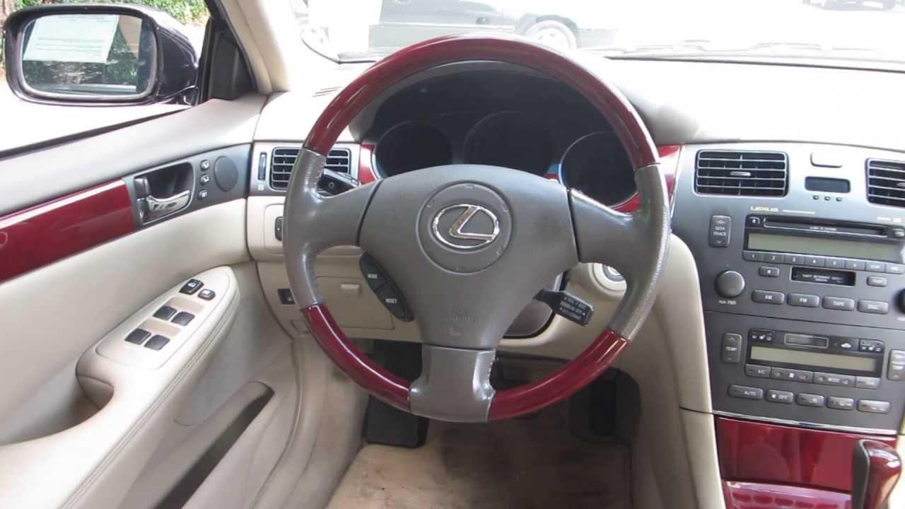 2004 lexus es330 black stock 121402a interior