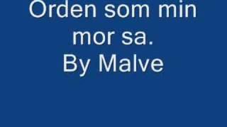 Orden som min mor sa By Malve
