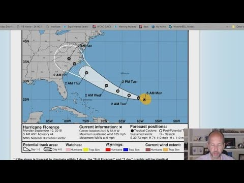 Vlog: Hurricane Florence could rapidly intensify to a cat 4 storm Monday