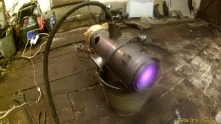 газовая пушка из печки запорожца! Часть 1!