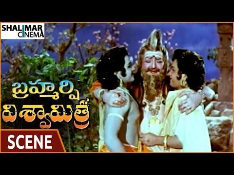 Brahmarshi Viswamitra Movie || Rama & Laxmana Killed Two Demons & Saves NTR || NTR || Shalimarcinema