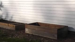 Filling Cedar Planter