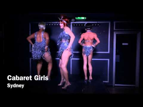 Cabaret Girls on Oxford Street Sydney, Australia.