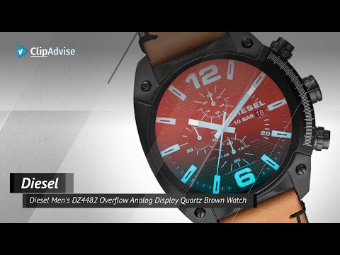 Diesel Men's DZ4482 Overflow Analog Display Quartz Brown Watch Quick View | Mens Overflow DZ4482