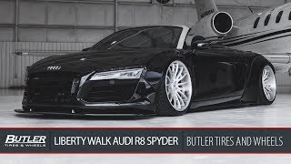 Liberty Walk Widebody Audi R8 Spyder | Savini SV75 Wheels | Butler Tire