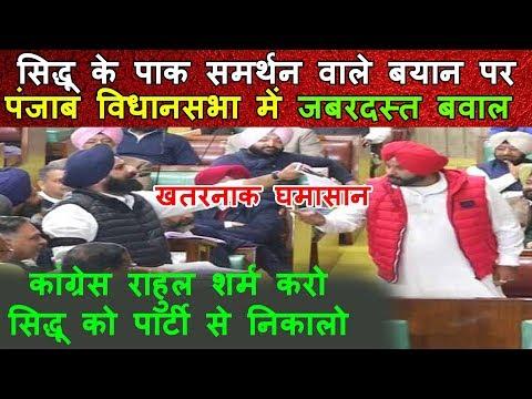 सिद्धू का पाक समर्थन बयान पंजाब विधानसभा में बवाल |अकाली दल की मांग सिद्धू को निकाले Rahul Gandhi