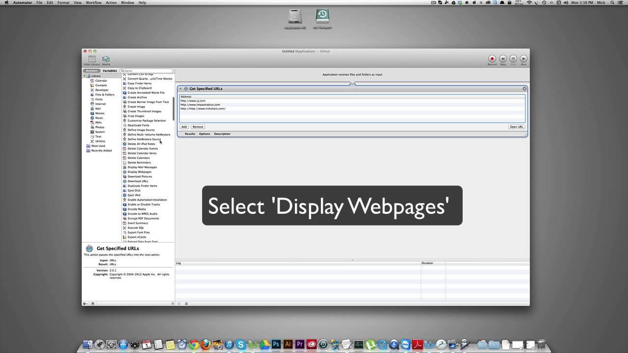 Open Multiple Websites at Once - Automator Tutorial