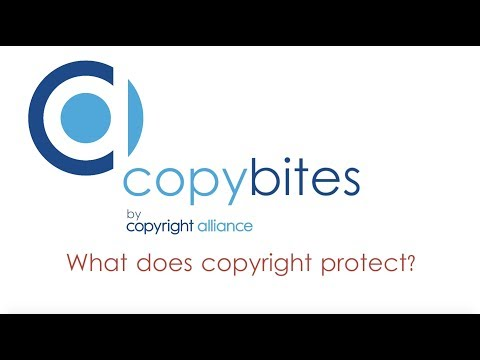 """Copybites by Copyright Alliance """"What does copyright protect?"""""""