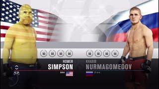 EPIC UFC MATCH UPS - Khabib Nurmagomedov Vs Homer Simpson - Who Will Win?