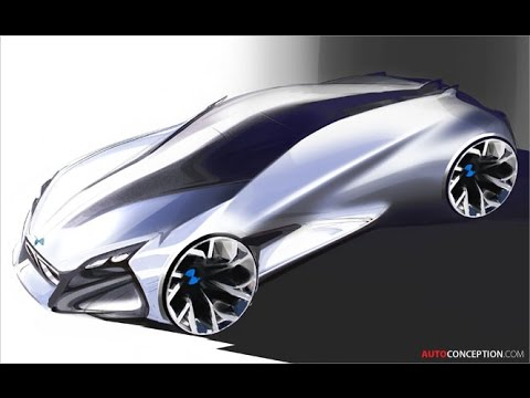 Car Sketching Bmw Vision Next 100 Concept Youtube