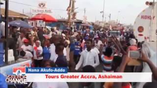 Akufo-Addo brings Ashiaman to a standstill