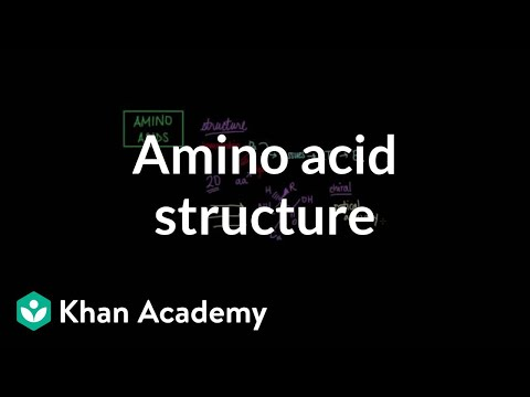 Amino acid structure   Chemical processes   MCAT   Khan Academy