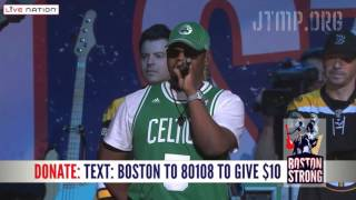 "Boston Strong - NKOTB & Boyz II Men ""Step by Step"" ""One Sweet Day"" - LIVE"