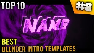 TOP 10 Best Blender intro templates #8 (Free download)