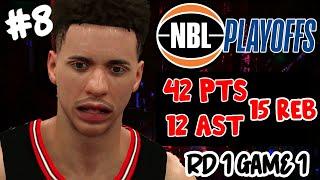 NBA 2K20 MyCAREER LaMelo Ball #8 NBL PLAYOFFS RD G1