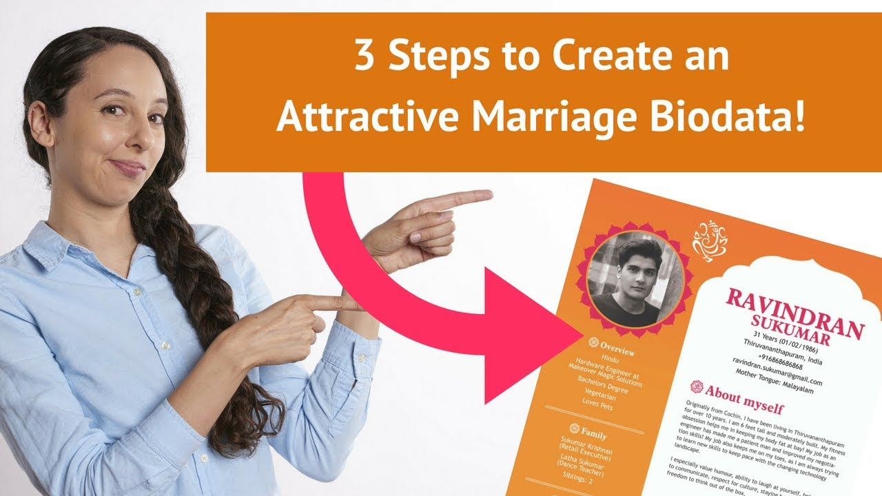 3 Steps To Create An Attractive Marriage Biodata Youtube